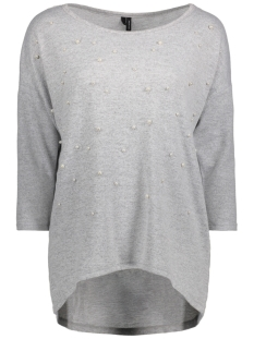 Vero Moda T-shirt VMMALENA DETAIL 3/4 BLOUSE EXP 10211150 Light Grey Melange/PEARL