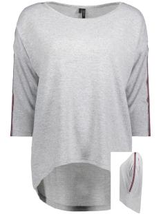 Vero Moda T-shirt VMMALENA DETAIL 3/4 BLOUSE EXP 10211150 Light Grey Melange/TRACK