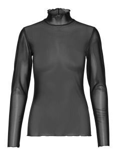 Only T-shirt onlMOLLY MESH LS HIGHNECK JRS 15166659 Black