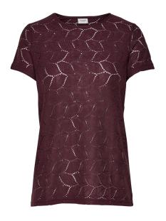 Jacqueline de Yong T-shirt JDYTAG S/S LACE TOP JRS RPT2 NOOS 15152331 Port Royal