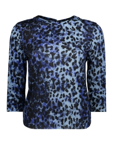 Only T-shirt onlANJA 3/4 TOP JRS 15161936 Cerulean/NATURAL LE