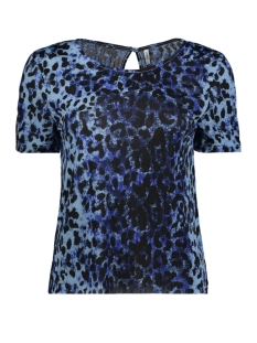 Only T-shirt onlANJA S/S TOP JRS 15161935 Cerulean/NATURAL LE
