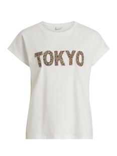 Vila T-shirt VITULAR S/S T-SHIRT 14050713 Cloud Dancer/STUDS