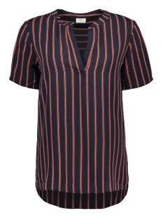 Jacqueline de Yong T-shirt JDYEVA S/S TOP WVN 15158800 Night Sky/TANGERINE