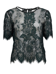 Only T-shirt onlMILO SS LACE TOP WVN 15162621 Black/BLACK/PETR