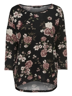 Only T-shirt onlELCOS 4/5 AOP TOP JRS NOOS 15144286 Black/FLOWERS AW