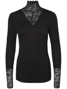 Vero Moda T-shirt VMKIWI LS LACE TOP NOOS 10200446 Black