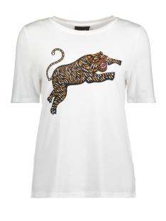 Object T-shirt OBJTIGAR S/S TEE APB 23028851 Gardenia/TIGER IN B