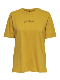 Only T-shirt onlCOLORED S/S TOP BOX JRS 15168963 Golden Yellow/YELLOW