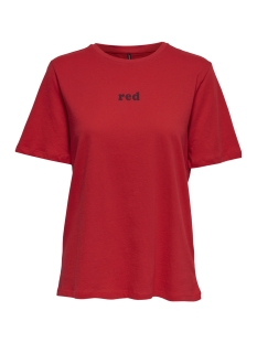 Only T-shirt onlCOLORED S/S TOP BOX JRS 15168963 Goji Berry/RED