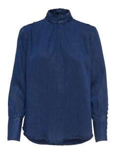 Only Blouse onlJOSIE HIGH NECK L/S BLOUSE DNM 15158810 Dark Blue Denim