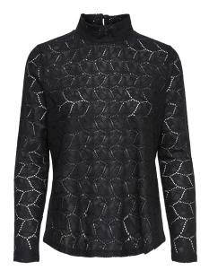 Jacqueline de Yong T-shirt JDYTAG L/S HIGNECK LACE TOP JRS EXP 15168521 Black