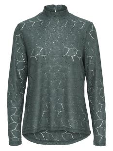Jacqueline de Yong T-shirt JDYTAG L/S HIGNECK LACE TOP JRS EXP 15168521 Sea Moss