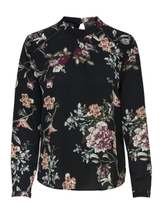 Only Blouse onlNEW MALLORY  AOP L/S BLOUSE WVN 15154629 Black/CD FLOWERS