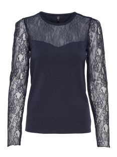 Only T-shirt onlLUCCA L/S LACE TOP JRS 15164230 Night Sky/LACE and L