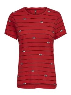 Only T-shirt onlKITA S/S EYE TOP BOX JRS 15169925 Goji Berry/EYES