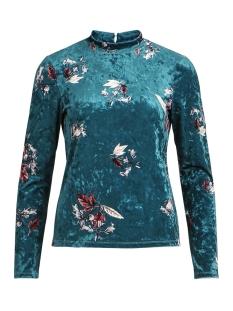 Vila T-shirt VITOM TAHARA L/S T-SHIRT 14050556 Bayberry/TAHARA