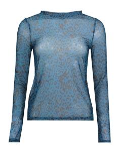 Vero Moda T-shirt VMJENA MESH L/S TOP COLOR 10210253 Gibraltar Sea/LEO