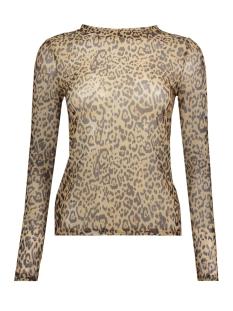 Vero Moda T-shirt VMJENA MESH L/S TOP COLOR 10210253 Travertine/LEO