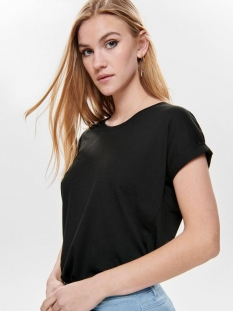 onlmoster s/s o-neck top noos jrs 15106662 only t-shirt black solid