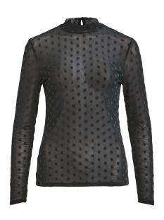 Vila T-shirt VIDARLING DOT L/S T-SHIRT 14050463 Black/BAYBERRY FLOC
