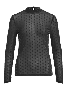 Vila T-shirt VIDARLING DOT L/S T-SHIRT 14050463 Black/BLACK FLOC