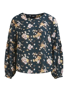 Object Blouse OBJSIMONE L/S TOP A Q 23029338 Pine Grove/FLOWER