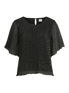 Vila T-shirt VIFRYD 2/4 TOP 14049033 Black/W. SILVER