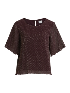 Vila T-shirt VIFRYD 2/4 TOP 14049033 Winetasting/W. LIGHT G