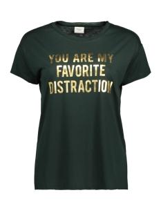 Jacqueline de Yong T-shirt JDYNIXON S/S PRINT TOP 0918 JRS 15161900 Scarab/GOLD FOIL