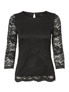 Vero Moda T-shirt VMSANDRA 3/4 LACE TOP NOOS 10209354 Black