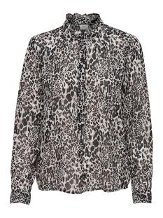 Jacqueline de Yong Blouse JDYABIGAIL L/S SHIRT WVN EXP 15166171 Black/LEO
