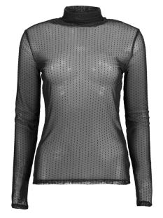 Jacqueline de Yong T-shirt JDYDOTTY L/S HIGHNECK TOP JRS 15160334 Black/DTM DOTS