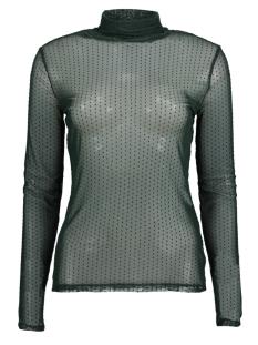 Jacqueline de Yong T-shirt JDYDOTTY L/S HIGHNECK TOP JRS 15160334 Scarab/DTM DOTS