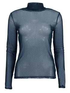 Jacqueline de Yong T-shirt JDYDOTTY L/S HIGHNECK TOP JRS 15160334 Night Sky/DTM DOTS