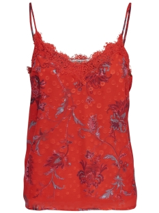 Only Top wfCELINE S/L TANK TOP WVN 15173902 Fiery Red/PAISLEY AOP