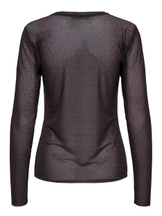 onlmaja leo mesh o-neck l/s top jrs 15161562 only t-shirt winetasting/red leo