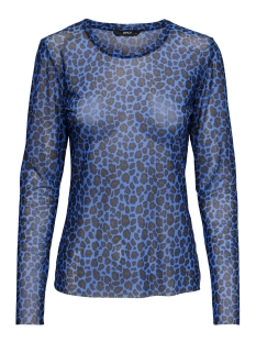 Only T-shirt onlMAJA LEO MESH O-NECK L/S TOP JRS 15161562 Surf The Web/LEO