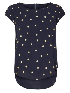 Only T-shirt onlVIC SS AOP TOP NOOS WVN 15161116 Night Sky/Gold dots