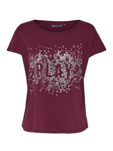 onpkai  loose ss tee 15154580 only play sport shirt rhododendron/w- gun met
