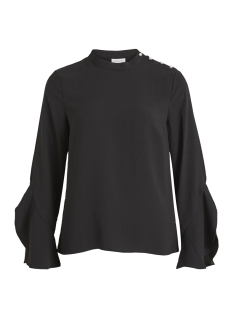 Vila Blouse VISARINA L/S PEARL TOP 14049312 Black