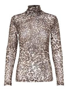 Jacqueline de Yong T-shirt JDYANDREA L/S ROLL NECK TOP JRS EXP 15166175 Black/LEO