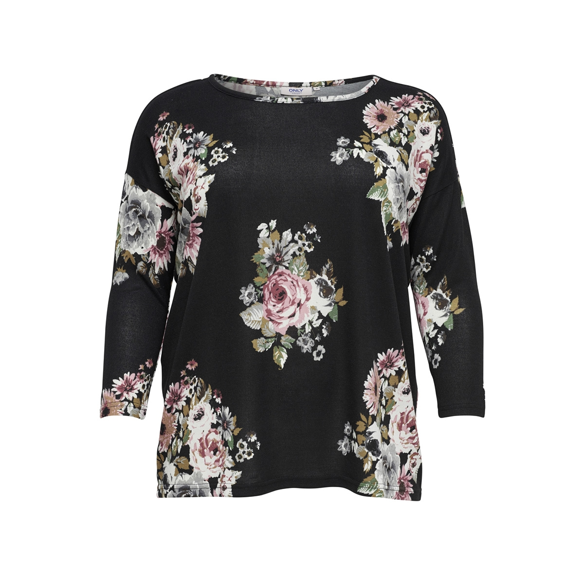 Caralba 34 Top 15164534 Only Carmakoma T Shirt Blackflowers