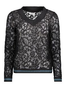 Noisy may T-shirt NMLACEY  L/S TOP  6 27003920 Black/DEEP LAKE
