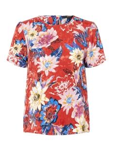 Vero Moda T-shirt VMSOFIA S/S MIDI TOP D2-7 10205391 Chinese Red/SOFIA