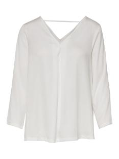 Only T-shirt onlNATALIA SATEEN V NECK TOP NOOS W 15166443 Cloud Dancer