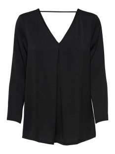 Only T-shirt onlNATALIA SATEEN V NECK TOP NOOS W 15166443 Black