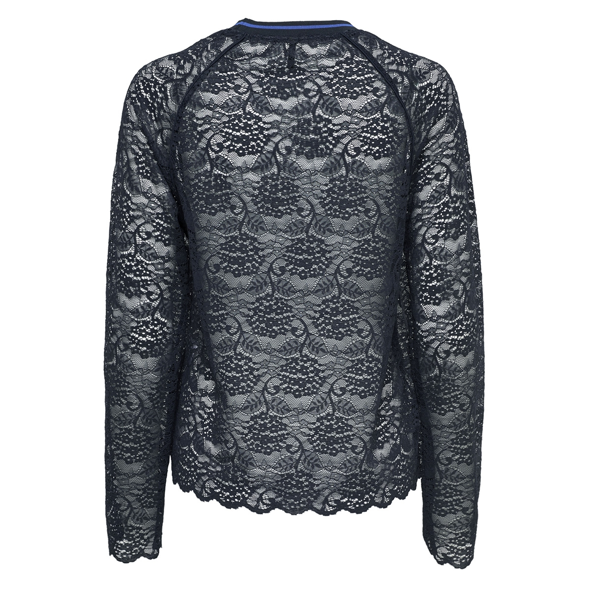 onlgwenny l/s top jrs 15164111 only t-shirt night sky/rib night