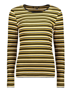 Only T-shirt onlAVENUE STRIPE L/S TOP BOX JRS 15161994 Cloud Dancer/GOLDEN YELLOW