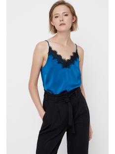 vmfanni lace singlet ga 10205833 vero moda top gibraltar sea/black lace